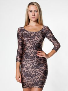 b8ecd287d3 We absolutely love this AA Lace Print Nylon Tricot Sleeve Dress for cold  EDM nights