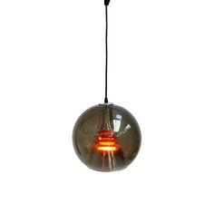 Duńska vintage lampa H. A. Jakobsson z lat 60-70. Pomarańczowy środek jest…