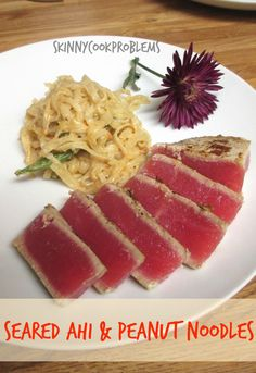 Ahi & Peanut Noodles with Sugar Snap Peas and Carrots