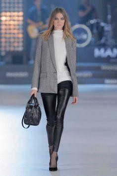Mango, collezione autunno inverno 2013 2014, pantaloni in ecopelle.