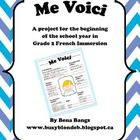 This is a project for the beginning of the school year, aimed at students in Grade 2 French Immersion or Junior grades Core French. Students will m. Core French, French Class, French Lessons, French Teaching Resources, Teaching French, Teaching Tools, Curriculum, School Projects, School Ideas