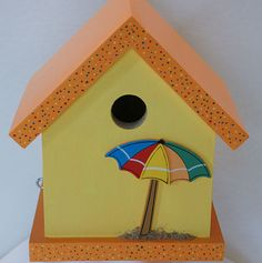Day at the Beach Birdhouse via Etsy