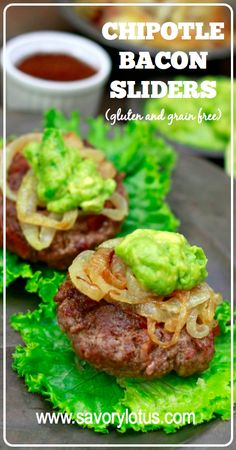 Chipotle Bacon Sliders (gluten and grain free) -  savorylotus.com
