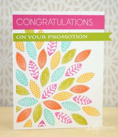 Floral Promotion Card by Nichole Heady for Papertrey Ink (November 2013)