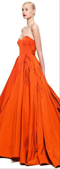 Zac Posen ● FW 2014-15 I don't usually care for orange, but this is gorgeous.