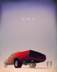 Awesome Illustrations of Movie & TV Cars | ShortList Magazine