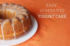10 min yogurt cake recipe