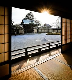 Japan winter sunset by FrancoisCad, via Flickr