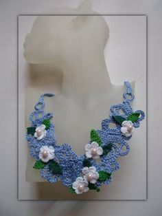 collar crochet necklace Beautiful summer day by FiBreRomance