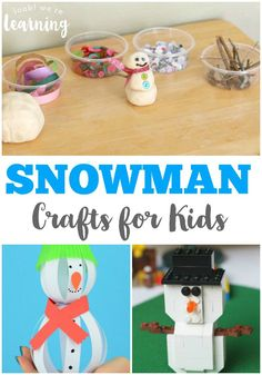 Fun Snowman Crafts for Kids