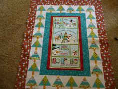 """""""Let It Snow"""" by Billie Thompson.  She made two quilts for her granddaughters, Sadie and Tinsley.  Quilted by Karen Denney."""