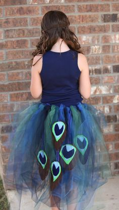 Peacock Costume with Mask by wishesdesignstudio on Etsy