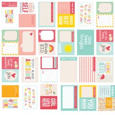 American Crafts - Pebbles - Love You More Collection - Journaling Cards - Girl at Scrapbook.com $4.99