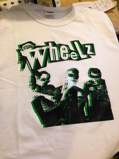 The Wheelz White Punk Shirt by PatchTrash on Etsy