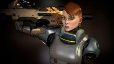 Female Armoured Character, Rafael Rossetti on ArtStation at https://www.artstation.com/artwork/female-armoured-character