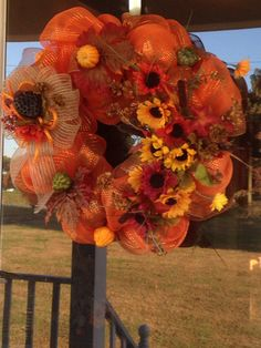Fall Wreath $40 Craft Sale, Wreaths, Fall, Crafts, Home Decor, Autumn, Manualidades, Decoration Home, Door Wreaths