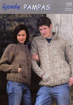 KNITTING PATTERN WENDY 5038 HIGH NECK JACKET WITH ZIP OR BUTTONS £2.50
