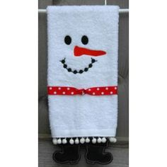 Towel Leg Designs :: Snowman Boots Towel - Embroidery Garden In the Hoop Machine Embroidery Designs