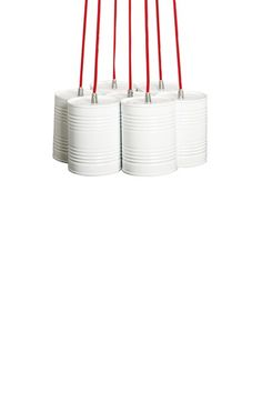 Red & White Just Married Bundle Lamp.