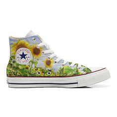 Scarpe Converse All Star personalizzate (Prodotto Artigianale) Girasole - TG44 - http://on-line-kaufen.de/make-your-shoes/44-eu-converse-all-star-personalisierte-schuhe-5