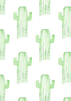naomi elliott cactus motif - wallpaper this in a bathroom