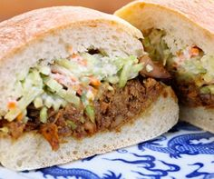 Slow Cooker Hoisin Chicken and Slaw Sandwiches from The Perfect Pantry [Part of a collection of Slow Cooker Summer Dinners on Slow Cooker from Scratch]