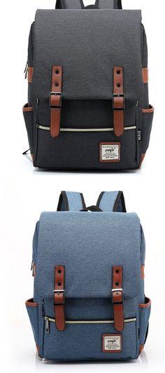 Backpack Retro Art Leather Bag Tide Female Bag Sen Belt Buckle Backpack Leisure British College Wind Bag Travel Bag Various Occasions Multipurpose Daypacks