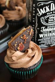 The Kitchen Prep: Chocolate-Whiskey Cupcakes great for boyfriends birthday