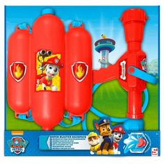 AK Sport 0795027 Paw Patrol Rucksack Water Pistol Aim and Fire for sale online Paw Patrol Toys, Paw Patrol Party, Cool Nerf Guns, Dino Toys, Lego Boat, Childrens Bedroom Decor, Cute Ponytails, Toddler Boy Gifts, Diy Barbie Clothes