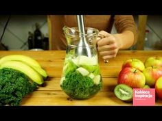 Koktajl Zielona Energia Kobieceinspiracje.pl Healthy Smoothies, Healthy Snacks, Cocktails, Drinks, Celery, Cucumber, Juice, Good Food, Food And Drink