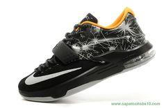 "KDVII-008 Preto / Prata Nike KD VII ""Aunt Pearl"" Masculino site de compra de tenis"