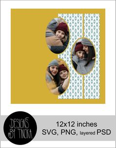 Layout Template, Templates, Photo Collage Template, Digital Scrapbooking Layouts, Shapes, Etsy, Stencils, Vorlage, Models