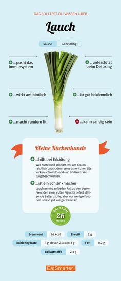 Darum ist Lauch – oder auch Porree genannt – so gesund | eatsmarter.de #lauch #porree #infografik