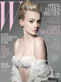 Carey Mulligan on the cover of W Magazine by Michael Thompson, January 2012