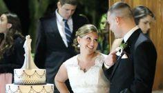 candid shot before cake cutting (Rustic Florida Wedding- Lange Farm in Dade City)