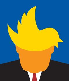 "Noma Bar on Twitter: ""Trump & the media for Politico magazine"