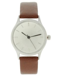 ASOS Brushed Silver Grandad Watch | $39 | gifts for guys |  mens watch | mens jewelry | mens fashion | mens style | menswear | wantering http://www.wantering.com/mens-clothing-item/asos-brushed-silver-grandad-watch/aCDNbMAf/