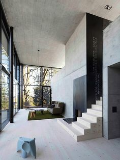 This steel and glass cube by urs niedermann architecture is a piece of art. Not only is there plenty of steel and glass but the interior walls are Concrete Architecture, Architecture Details, Interior Architecture, Exterior Design, Interior And Exterior, Glass Cube, Deco Design, Home Living, Living Room