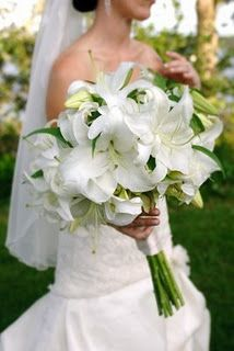 White lilies with white roses is gorgeous!