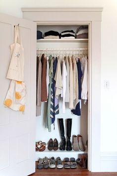 Worlds Easiest Coat Hangers, finished closet
