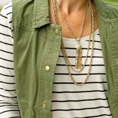 Vintage Triple Chain Tassel Necklace – CS Gems