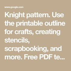 Use the printable outline for crafts, creating stencils, scrapbooking, and more. Free PDF template to… (With images) Shiloh, Princess Party, Knights, Ariel, Outline, Free Printables, Stencils, Scrapbooking, Pdf