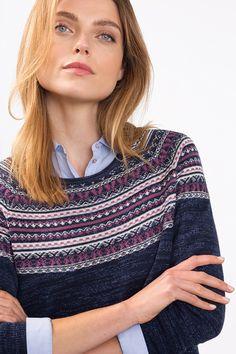 Esprit - Melange jumper with a jacquard pattern at our Online Shop