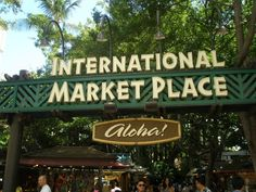 A visit to the International Marketplace Honolulu HI...tons of stalls with all things Hawaii