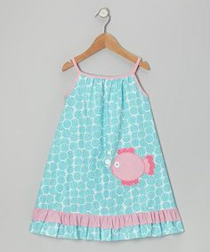 Take a look at this Turquoise Fish Dress - Infant, Toddler & Girls by Petite Palace on #zulily today!
