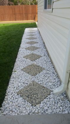 This prevents moisture from hedges touching the house.