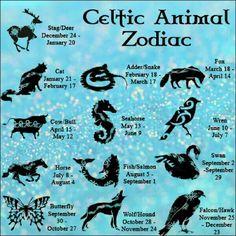 Celtic Astrology: Celtic Animal Zodiac Dates | #celticastrology #celticanimalastrology