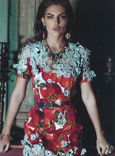 Dolce and Gabbana Spring 2012 Model Alyssa Miller