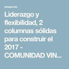 Liderazgo y flexibilidad, 2 columnas sólidas para construir el 2017 - COMUNIDAD VINTEGRIS | COMUNIDAD VINTEGRIS