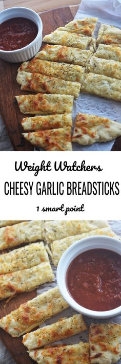 Easy Cheesy Garlic Breadsticks - Recipe Diaries #weightwatchers #breadsticks #dough #pizza